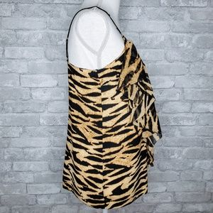 RACHEL Rachel Roy Tops - RACHEL Roy Tiger Striped Ruffle Sided Camisole - S